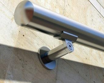 "B52 Anodized Handrail Aluminum Stairs Kit Stainless Steel Look , 1.97""diameter(round)"