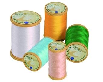 Coats Cotton thread mercerised, lustrous and smooth - 50 ticket, 100m spool