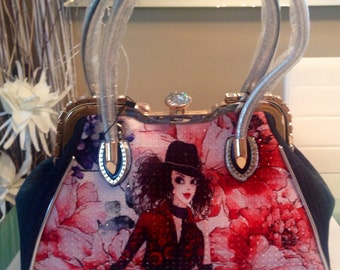 Personalized Handbag with stones