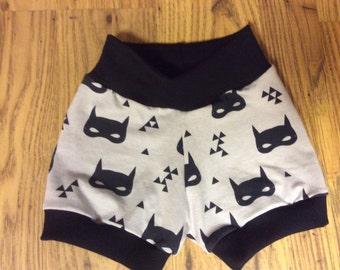 18-24 month bat mask shorts