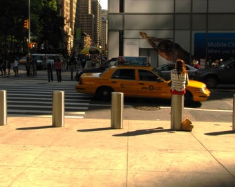 New York City photography, Urban color scene, Midtown taxi summer