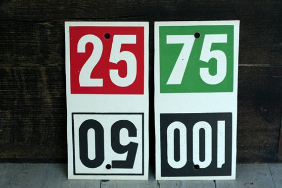 Vintage Double Sided Price Signs - Ephemera - General Store - Altered Art - Mixed Media - Assemblage - Scrapbooking