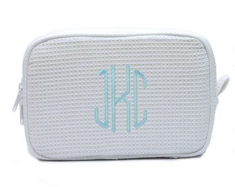 monogrammed cosmetic bag, monogrammed mother's day gift, monogrammed bridesmaids gift