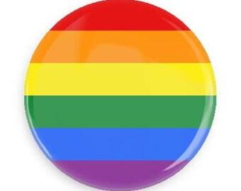 Gay Pride flag button/pin/badge