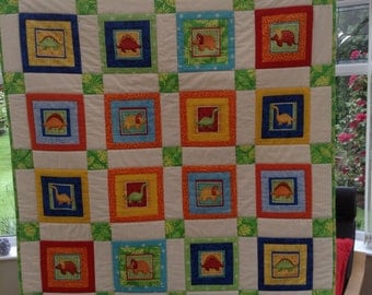 Dinosaurs Quilt/Playmat.   FREE P&P
