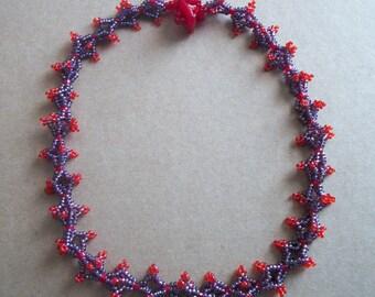 Summer Berries beaded necklace