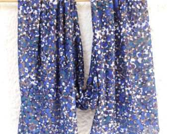 Ladies IDA blue points from viscose scarf