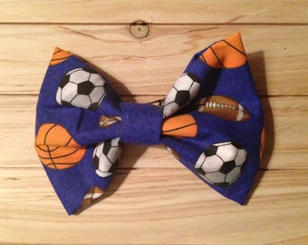 Sports Themed Hair Bow