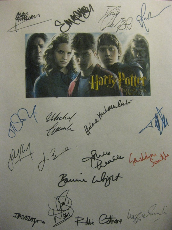harry potter and the half blood prince signed film movie