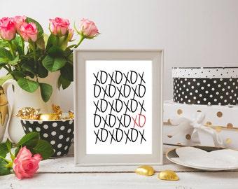 XOXO Valentines Printable