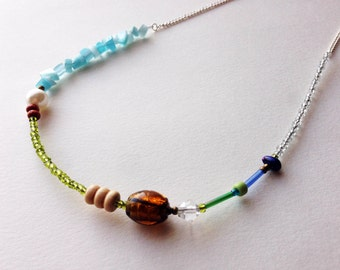 Earthy Colourful Beaded Necklace