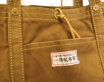 DISCOUNTED:Ichizawa Canvas Tote Bag in Light Brown
