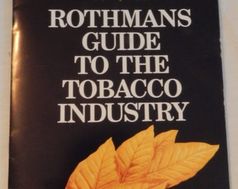 Rothmans Guide to the Tobacco Industry - booklet from A New Zealand tobacco Co. - 1970's - Collectible Tobacciana Ephemera               E-A