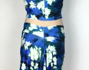 Argentine tango skirt, floral print skirt, fish tail skirt, dancewear