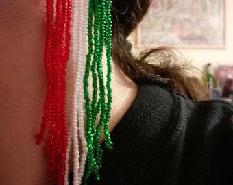 FINAL SALE 70% OFF Handmade long tricolor earrings