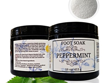 Natural Foot Soak with Peppermint Essential Oil, Organic Foot Relief Soak, Gift Idea