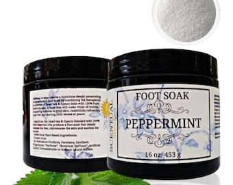 FOOT SOAK, Natural Pain Relief Soak, Tired Feet Soak, Instant Relief For Tired Feet, Peppermint Soak, Organic Foot Care, Aromatherapy Soak