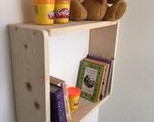 Large Pine Kids Bedroom Box Shelf Toy Storage Bookcase Kitchen Shelves Bathroom Shelves Bedroom Shelves.