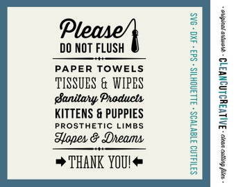 Do not flush hopes dreams funny toilet quote svg studio3 for Bathroom quotes svg