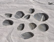 Beach Pebbles, Veiny Pebbles, Ocean Pebbles, Vase Filler, Unique Ornament, Beach Stone Art, Grey Stones, Smooth Stones