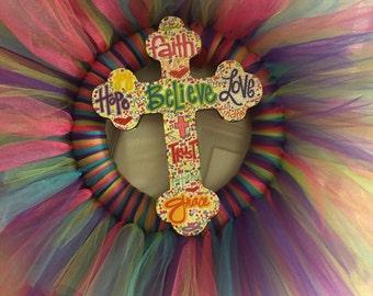 Believe Cross Wreath