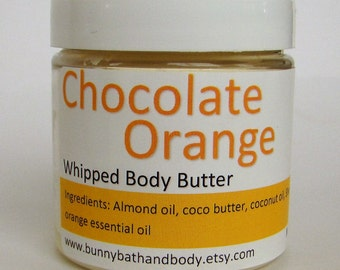 Chocolate Orange Whipped Body Butter, Body Butter, Body Lotion, Lotion, Whipped Body Butter, Moisturizer, Natural Lotion, Chocolate Lotion