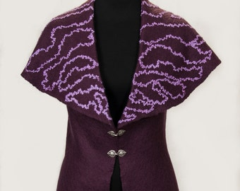 "Women's woolen vest ""I Want to Be Yours"""