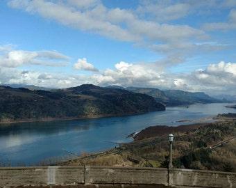 "Photograph Print ""Oregon & Washington Columbia River Gorge View"""
