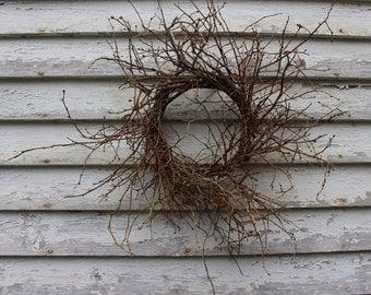 "Maine Blueberry Twig Wreath - 30""@ Widest / Rustic / Farmhouse Decor"
