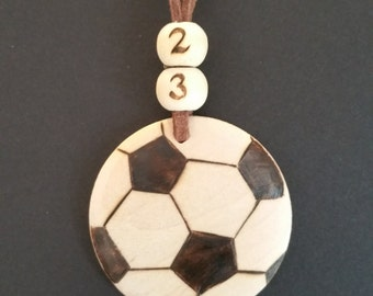 unique soccer mom necklace, boho jewelry, handcrafted woodburned jewelry, unique gift for soccer mom, soccer mom