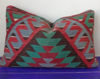 16x24 kilim pillow large lumbar pillow cover - 253b
