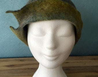 Sale! Felted hat (cloche) Merino Wool