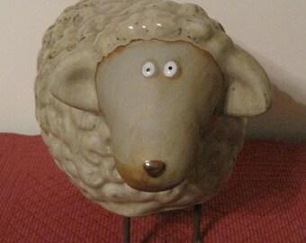 Silly Ceramic Sheep, Ceramic sheep figurine