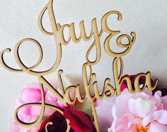 Custom Design Cake Topper Black, White, Gold or Silver Cake Topper Custom Cake Decoration Cake Decorating Wedding Engagement Birthday Cake