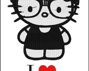 Hello Kitty: Geek Embroidery Designs