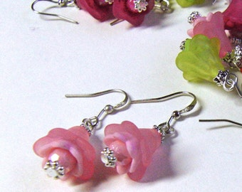 Graceful rose buds-earrings - 10 spring colors available, suitable to - almost - any outfit!