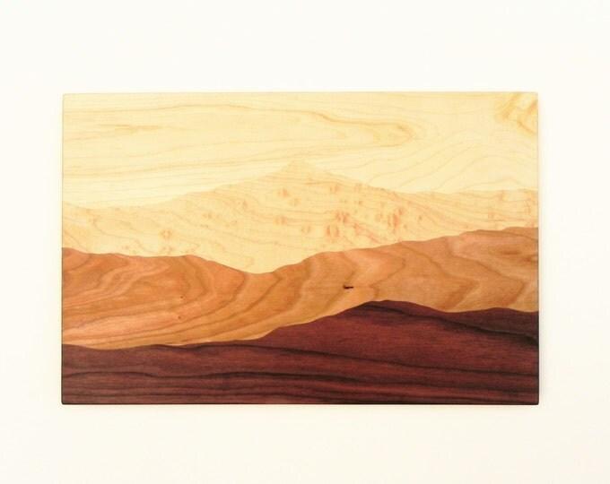 Mountain View Wood, Cutting board, Mountains, Mountain View, Modern Wood Design, Modern Decor, Mountain art, Mountain Ridge, Hiking Gift