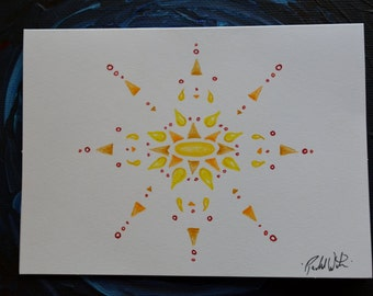 Sunburst Blank Note Cards (color)