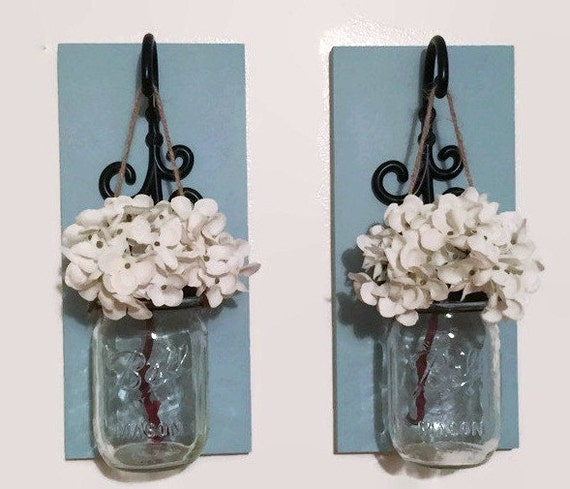 Mason Jar Wall Decor How To : Mason jar decor wall by dreamhomewood