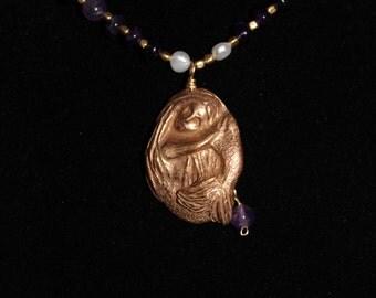 Amethyst Mermaid Necklace