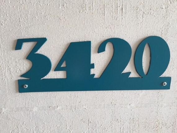 items similar to custom metal address sign on etsy
