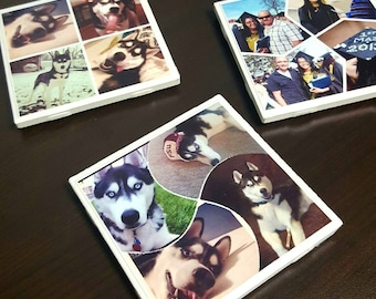 Personalized Photo Coasters-Personalized Drink Coasters-Custom Photo Coasters Set-Drink Coasters- Set of 4, 8, or 12