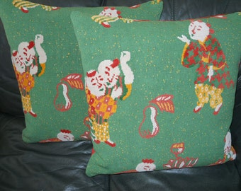 Throw pillows Epingle & Cut Velvet fabric designer custom pillows new PAIR