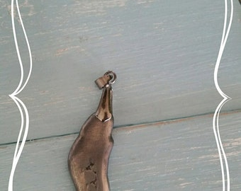 Pewter 'blob' pendant