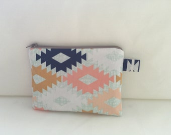 Coin Purse / Pouch in Bright Pattern