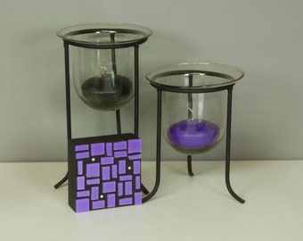 Purple Glass Art, Glass Art, Wall Decor, Abstract Art, Home Decor, Colorful Art, Contemporary, Modern