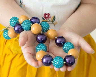 Back to School Outfit Accessories - Bubblegum Necklace - Kids Jewelry - Girls Necklace - Big Bead Necklace - Toddler Necklace - Chunky Beads
