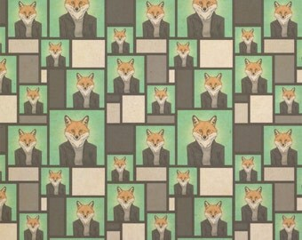 Portrait of a Fox Kraft Present Gift Wrap Wrapping Paper