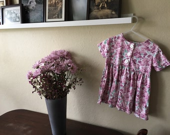Pink Floral Baby Doll style Dress