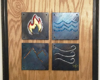 Metal Wall Art - Elements - Handmade, custom